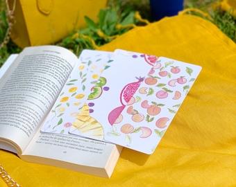 Set of 3 Bookmarks Summer Fruits