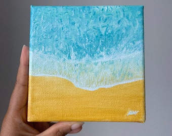 Warm Sand Original Painting 12x12cm Gouche on canvas