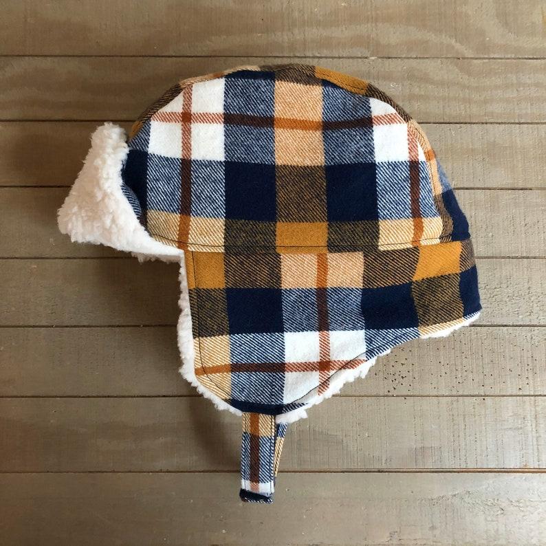 you choose the details! Custom Toddler Boy Plaid Trapper Hat