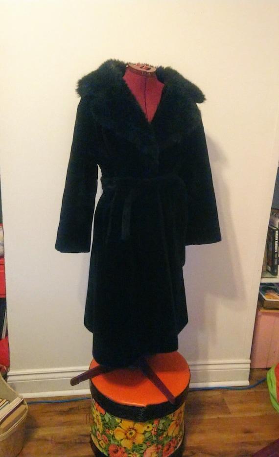 Faux Fur 70s Coat