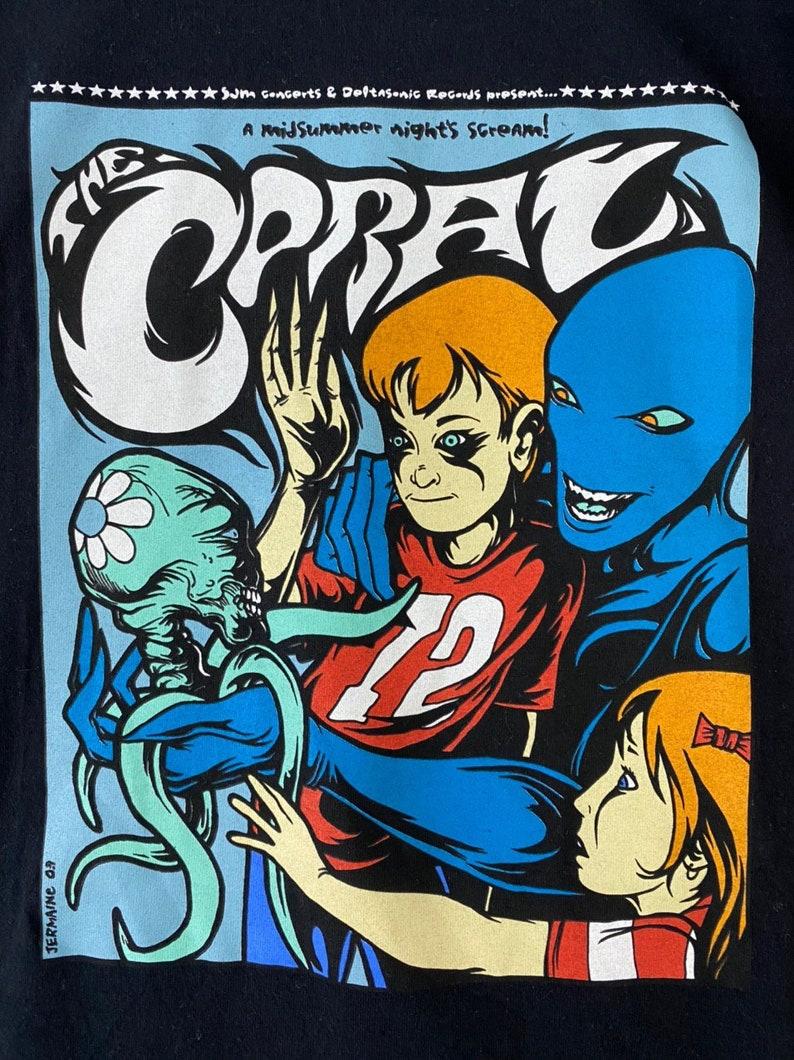 Vintage 00s the coral big image rare design artwork drawing english rock band album tour singles punk metal grunge shoegaze t-shirts