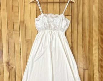 SALE Vintage 2 pc PinkWine Nylon *Sz S* Maxi Nightgown Robe Set