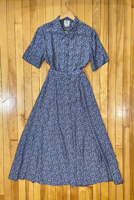 Vintage 90s Laura Ashley blue floral matching blou