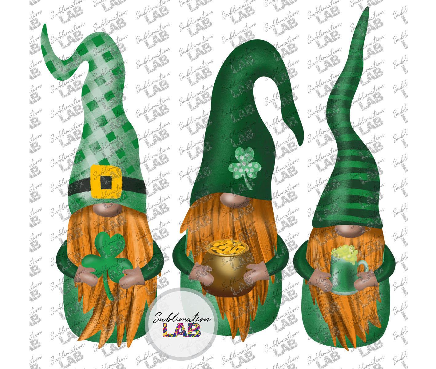 Download St Patrick's Gnomes Sublimation Design PNG Scandinavian | Etsy