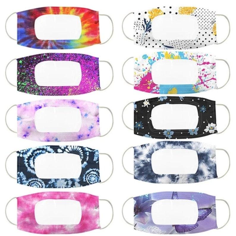10 PACK ANTI-FOG Volwassenen Clear Masker / Masker met STYLE A