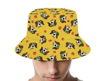 Pug Dog Embroidered Bucket Hat by 24PlanetsStudio Pocket  Tumblr Instagram Fashion