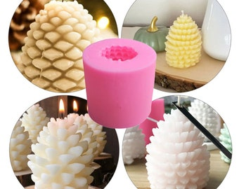 Christmas Pine Cone Beeswax Candle Making Mould Handmade Aromatherapy Candles