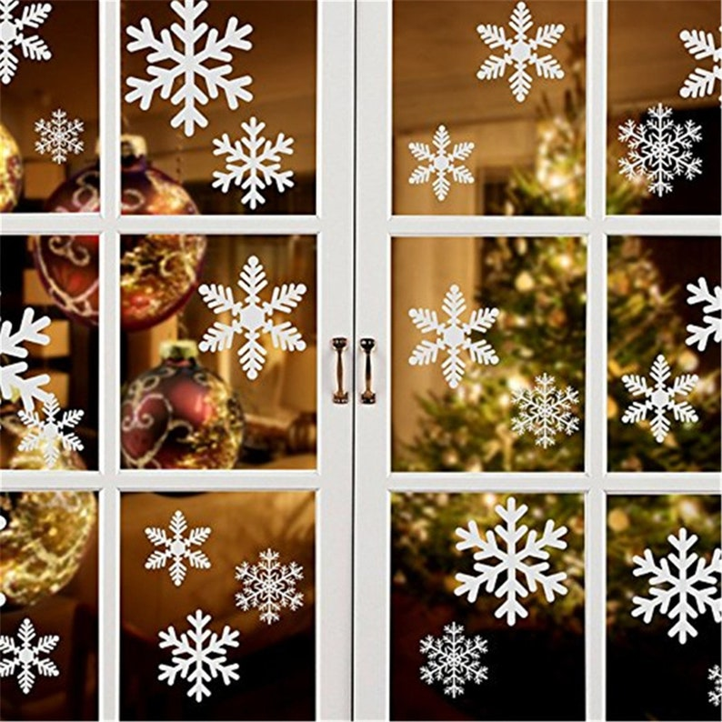 4 Christmas Ball Snowflake White Wall Stickers Decals Removable Kids Decor Art