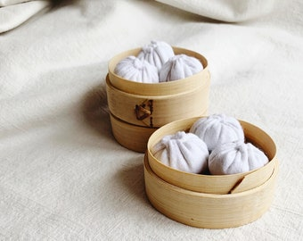 mini wool felt soup dumpling set