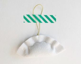 wool felt dumpling ornament / gift topper