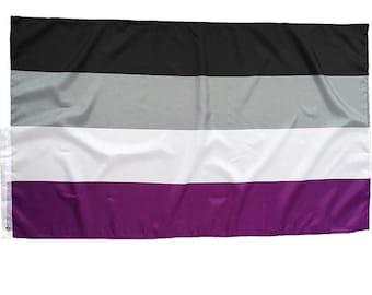 3x5feet Asexual FLag / rainbow flag / Asexual flag/ gaypride LGBTQ+ /  Gay pride flag / asexual LGBT / Asex LGBT flag / Asexual / Asexual