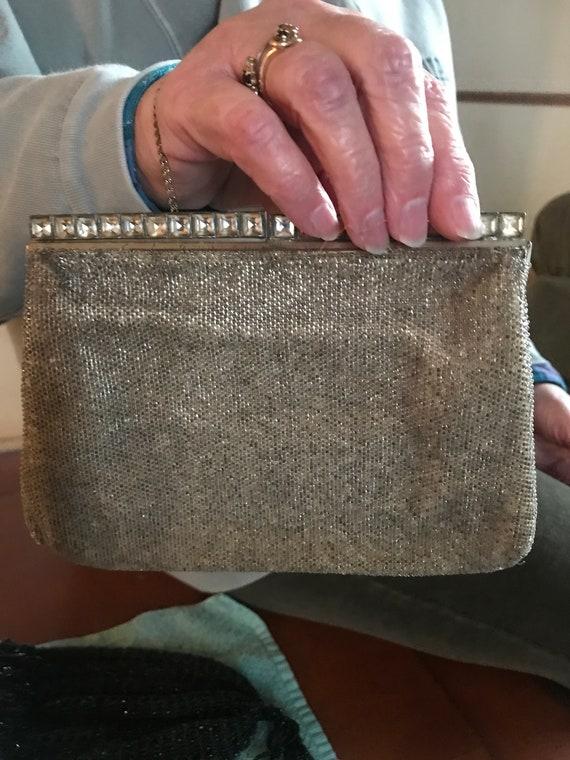 Vintage french beaded handback