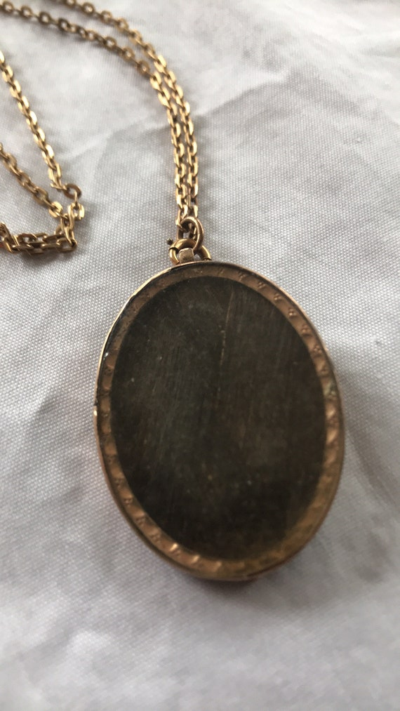 Victorian mourning brooch necklace