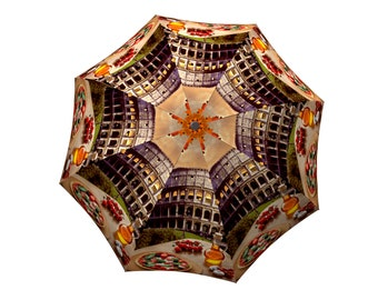 Compact Rome Umbrella Italy Colosseum Design - Portable Cute Rain Umbrella - Light Folding Colorful Windproof Quality Umbrella -Manual open