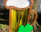Irish,Shamrock,Beer,Green, Unique, man cave, dad, Father s Day.