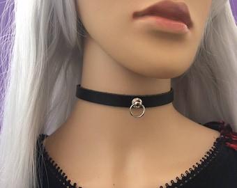 Discreet Collar 10mm Leather Collar Submissive Collar Discreet Leather Collar Leather BDSM Collar Slave Choker Ddlg Collar O Ring Collar