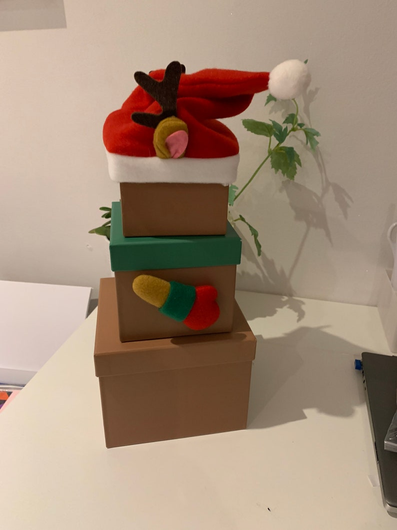 Christmas  stacking gift boxes