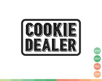Cookie Dealer Svg Etsy