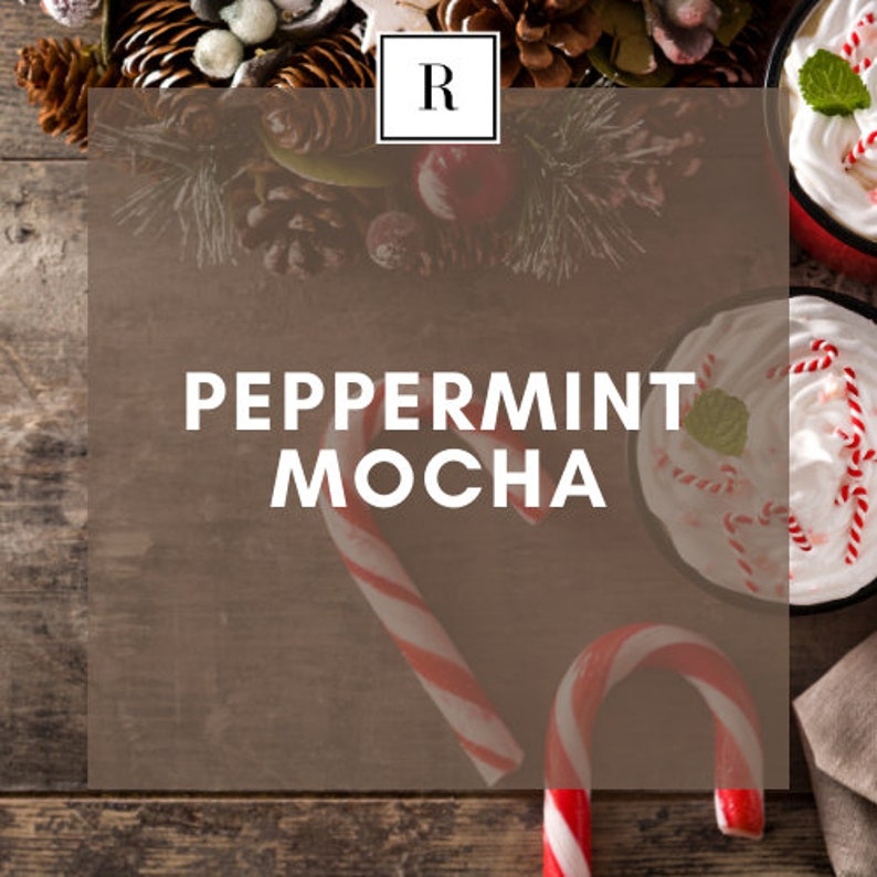 Peppermint Mocha Soy Wax Scented Candle 100/% All Natural
