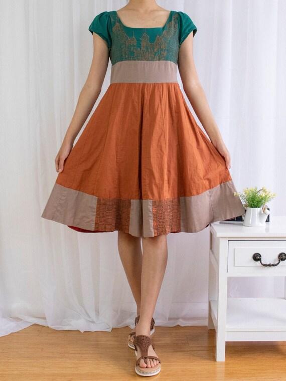 Vintage Embroidered Folk Dress