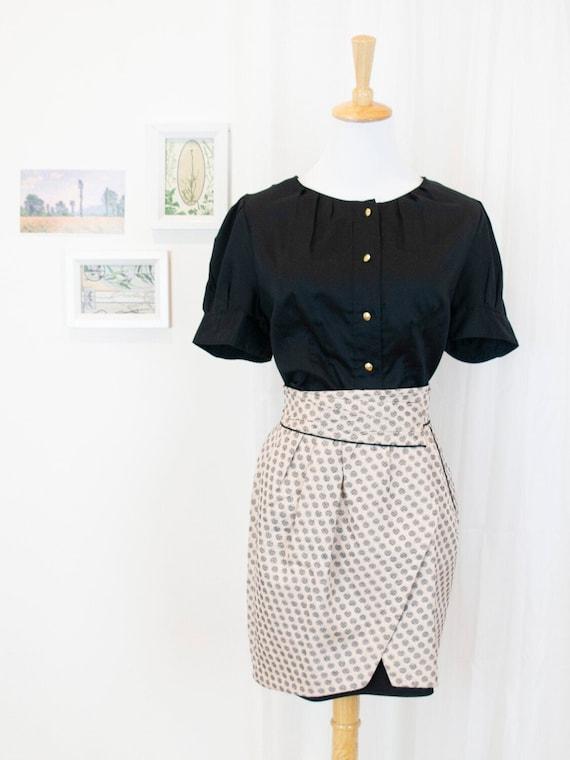 Vintage Tulip Wrap Skirt