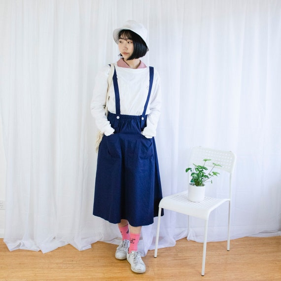 Vintage Blue Pinafore Skirt