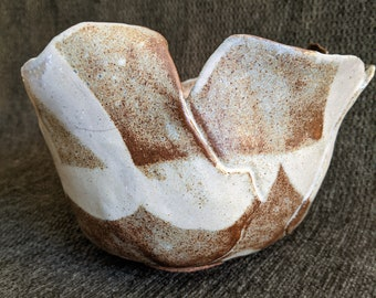 """1970's Vintage California POTTERY ~ ABSTRACT """"Tulip"""" Ceramic Bowl"""
