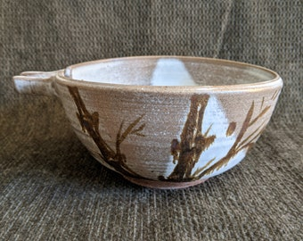 Asian-Influenced Bamboo Spouted Pottery-VINTAGE CALIFORNIA Pottery from the 1970's