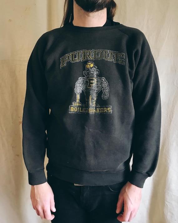 60s/70s Purdue Boilermakers Black Sweatshirt | Sz