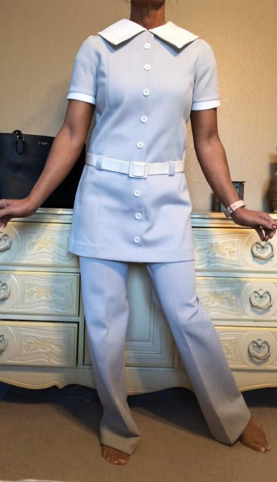 Vintage 1970s Nardis Pant Suit Double Knit