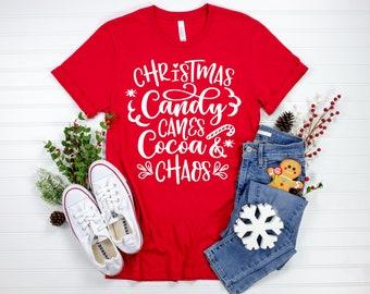 Plaid Embroidery Lady Short Sleeve Tops T-shirt Tee Simple Fashion Casual Xmas