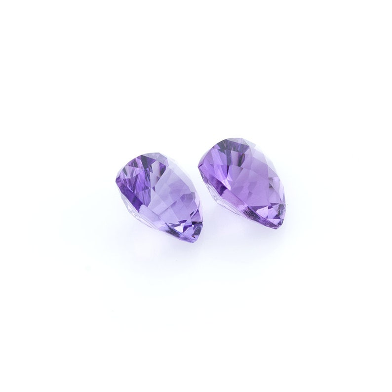 Amethyst 4.18 CTS 9 MM Trillion Concave Checkerboard