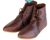Medieval Ankle boots ,Medieval Men Women Ankle Boots, Leather Shoes Drama Theater Cosplay Viking Pirate Dress Shoes