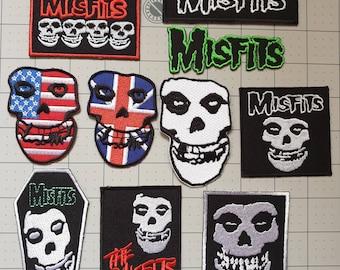 Misfits Blood Iron On Patch Badge Punk Rock Music Band Skull Splatter Halloween
