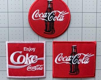 "COCA-COLA /""ENJOY COCA-COLA/"" NEW ADHESIVE 2 1//2/"" X 1 1//2/""   CLOTHING PATCH"