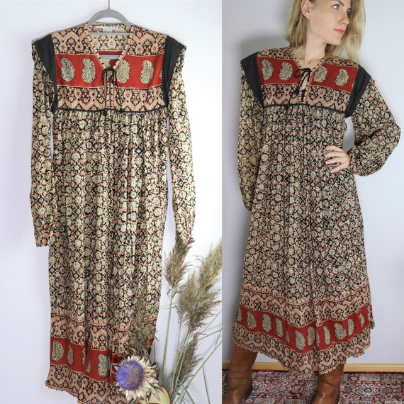 Rare 70s Indian Cotton Gauze Dress - Deadstock