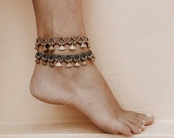 10 colors Macrame anklet Mens anklet Simple anklet Surf anklet Hippie anklet Makrame Mens Ankle Bracelet boyfriend gift PrettyCrochetForYou