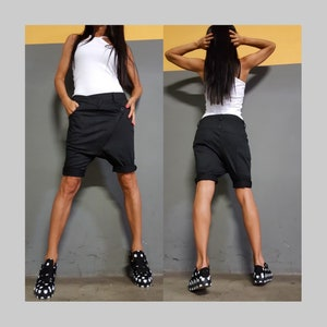 Extravagant Asymmetric Black Long PantsGothic Black PantsHarem Extra Long TrousersCasual Comfortable PantsUrban Sport Elegant Trousers