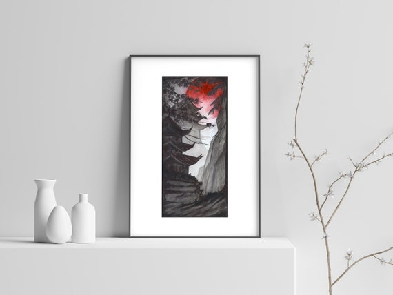 Art Print Treasure inspired by Mo Dao Zu Shi  Inspired dorama Untamed  Ink drawing A4  Inktober 2019  Directly from the Artist