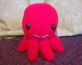 Lil Red Crochet Octopus (Herman)