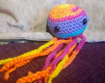Lil Crochet Rainbow Jellyfish (Bob)