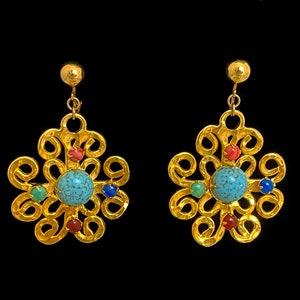 Vintage Vogue Pagoda Crystal Earrings