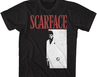 Scarface Movie Tony Cocaine Desk SIT BACK Adult Long Sleeve T-Shirt S-3XL