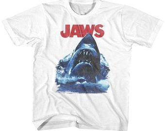 Kids Jaws Shark Attack Youth Toddler Movie Shirt