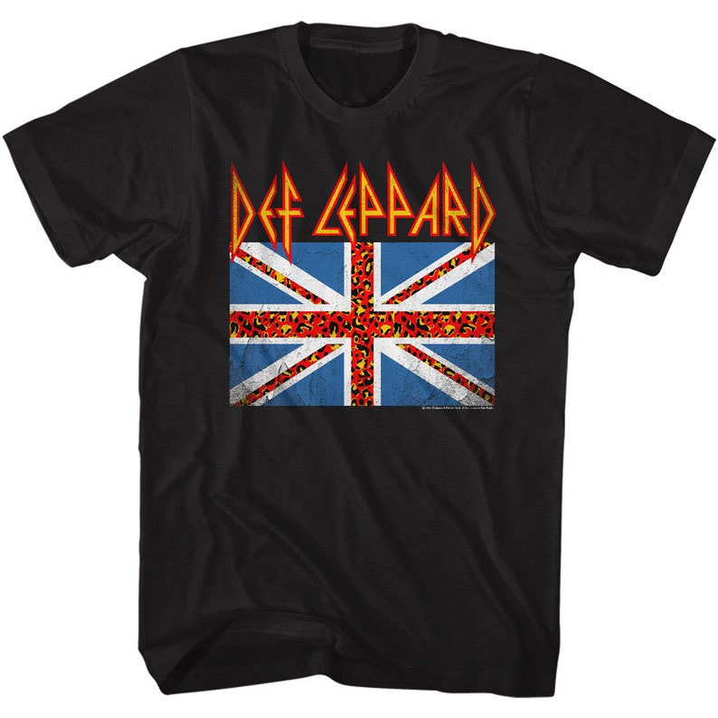 Def Leppard Flag Rock and Roll Music Shirt