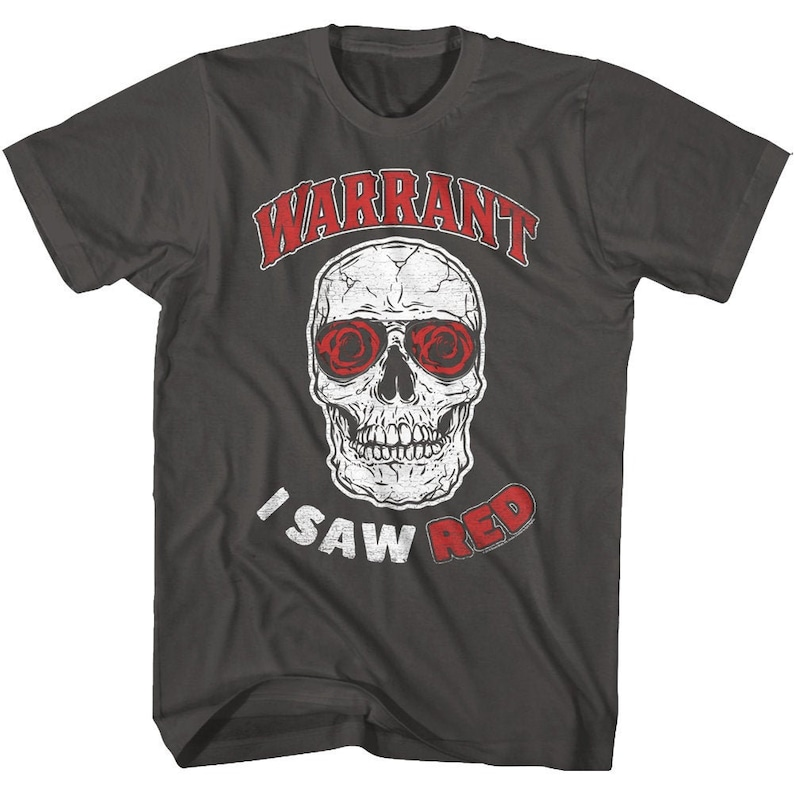 Warrant I Saw Red Rock and Roll Shirt