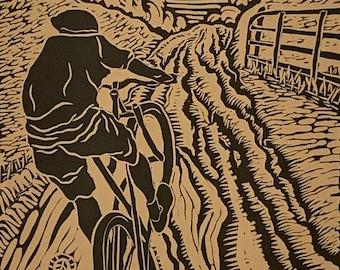 Limited Edition Hagemann Barn Original Handcarved Linocut Print