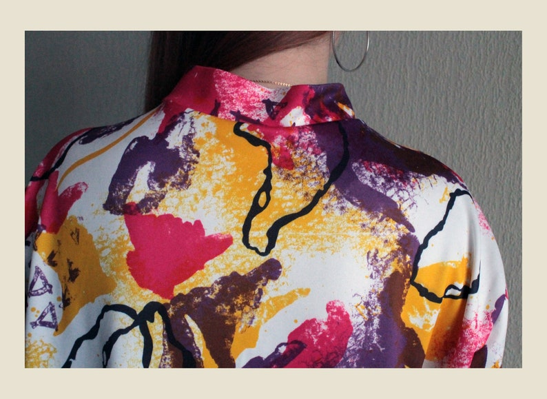 Vintage Multicolor Cycling Biking Jersey Retro Colorful Biking Bicycle T-shirt Tshirt Road Bike Shirt 80s 90s Abstract Vintage Print Tsirt