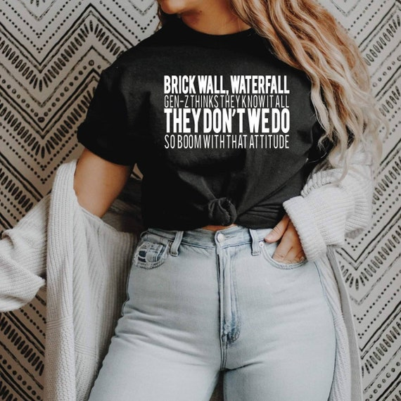 Millennial Life side parts skinny jeans A few of my favorite things graphic tee
