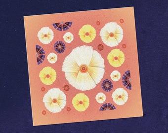Botanical Art Greeting Card, Botanical Print, Floral Painting, Botanical Wall Art, Garden Illustration, State Flowers, Flower Illustration
